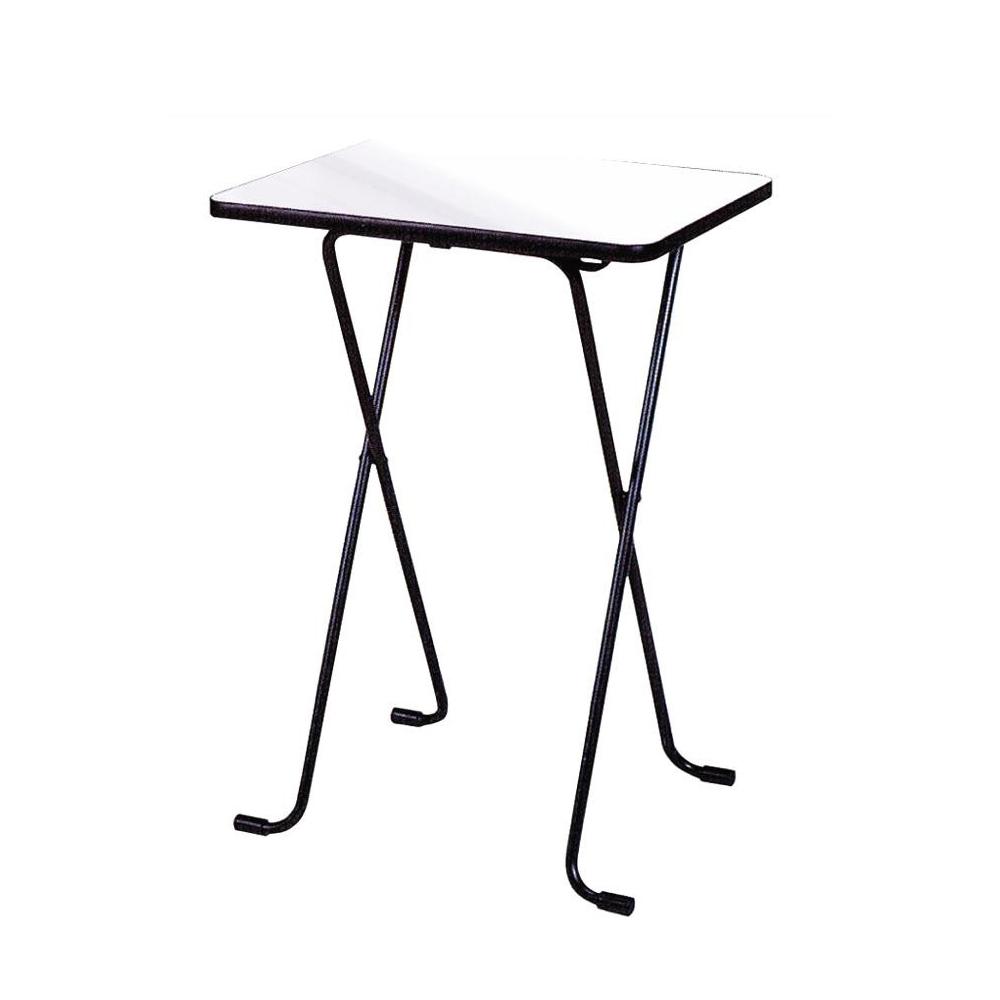 ルネセイコウ ハイテーブル ニューグレー・ブラック 日本製 完成品 WT-82机 カウンターテーブル 折りたたみ