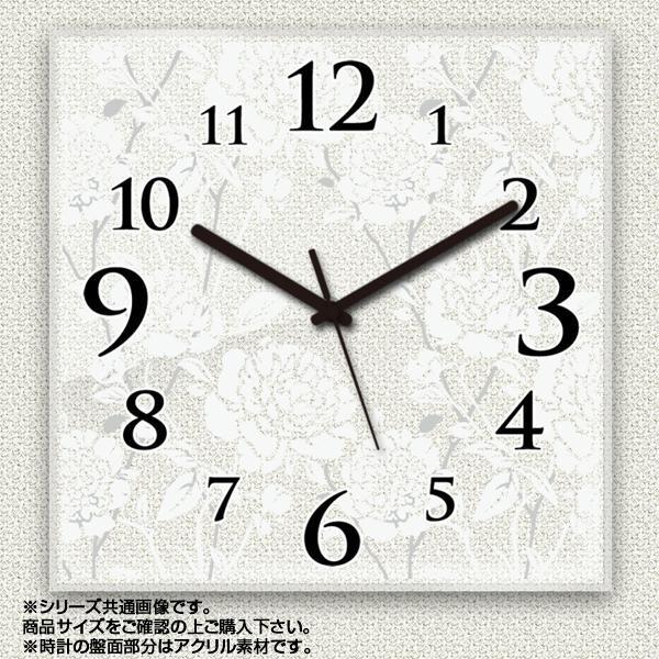 MYCLO(マイクロ) 壁掛け時計 アクリル素材(クリア) 四角 23cm 薔薇(バラ) com513【送料無料】