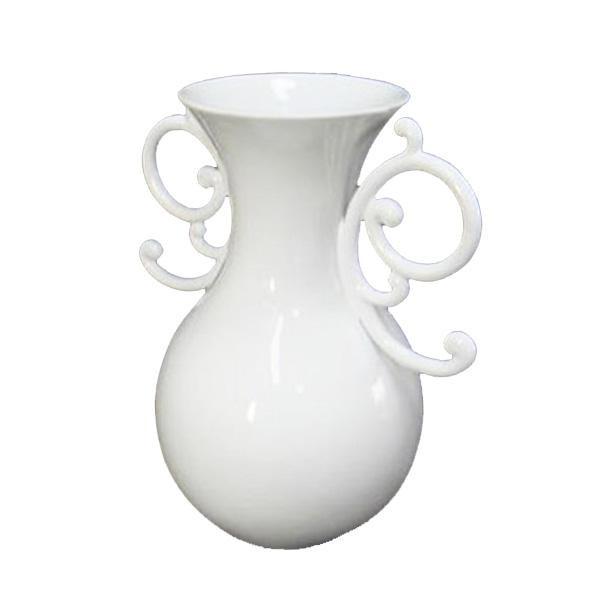 かわ畑 個性的で上品なデザイン 花瓶 フラワーベース ホワイト 1212USC012【送料無料】