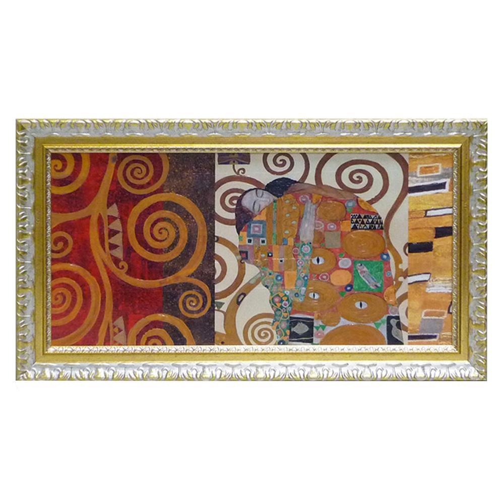 ユーパワー クリムト デコパネル コレクション「抱擁」 GK-12031壁掛け アート インテリア