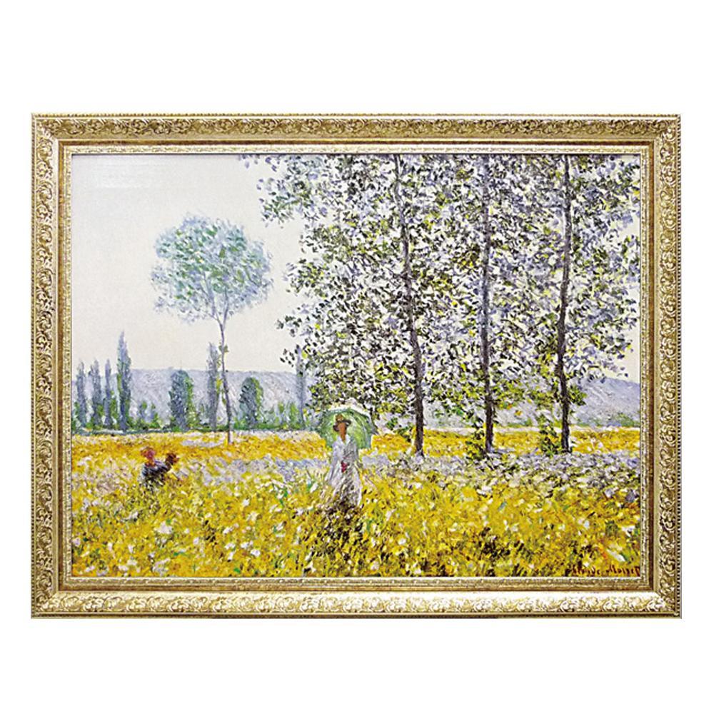 ユーパワー ミュージアム シリーズ モネ「Champs au Printemps 1884」 MW-18068芸術 額 壁掛け