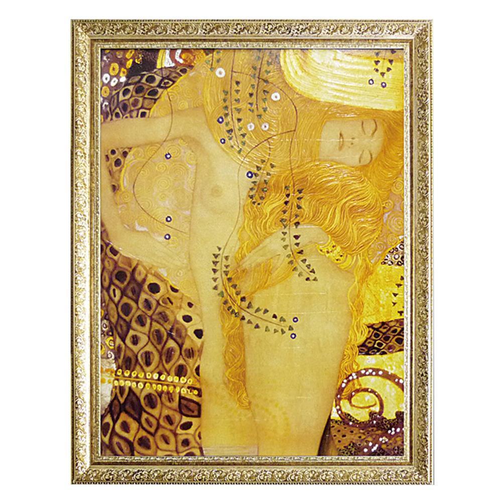 ユーパワー ミュージアム シリーズ グスタフ クリムト「Sea serpent」 MW-18070アート 額 絵