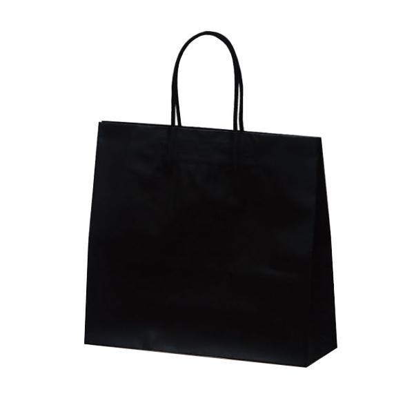 マットバッグ(M) 手提袋 320×110×290mm 50枚 ブラック 1069アパレル 紙手提げ袋 ペーパーバッグ