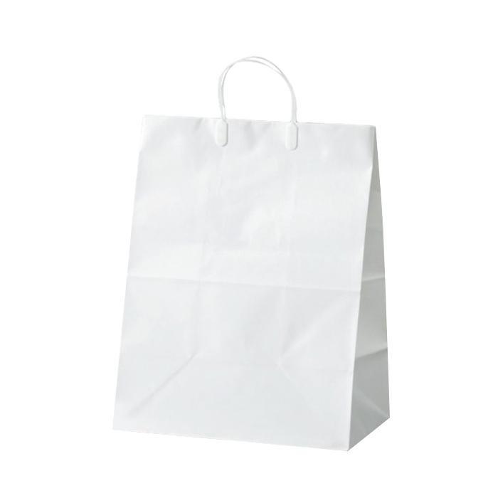 ブライダルバッグリネン(大) 紙袋 350×220×445mm 50枚 ホワイト 1981ペーパーバッグ 結婚式 紙手提げ袋