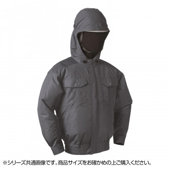 NB-101 空調服 (服 5L) チャコールグレー チタン フード 8208376