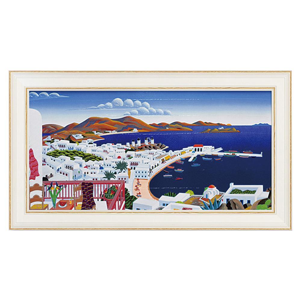 ユーパワー トーマス マックナイト「ミコノス パノラマ」 TM-12011風景画 アート 絵