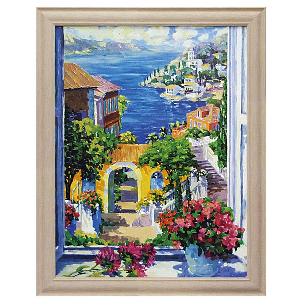 ユーパワー ジュリアン アスキンス「モーニング サンシャイン」 JA-12003風景画 絵 壁掛け
