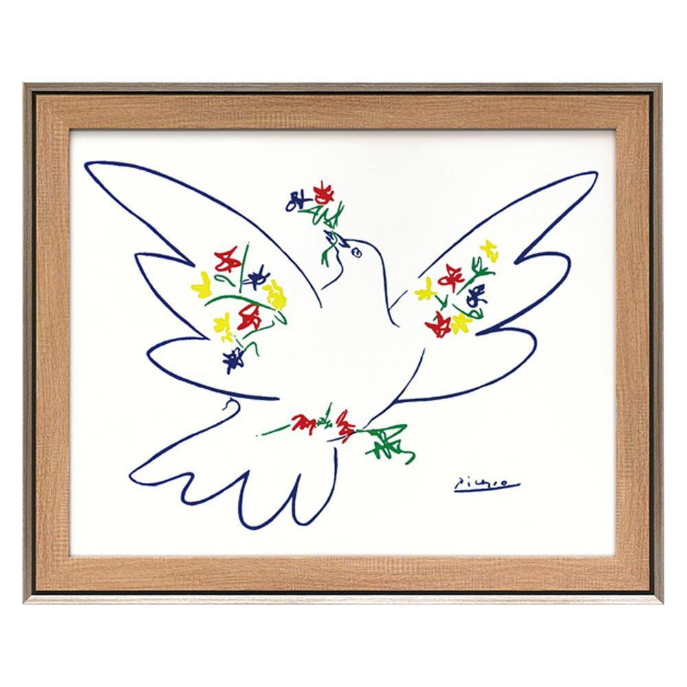 ユーパワー パブロ ピカソ「花とハト」 PP-15001アート 額 インテリア