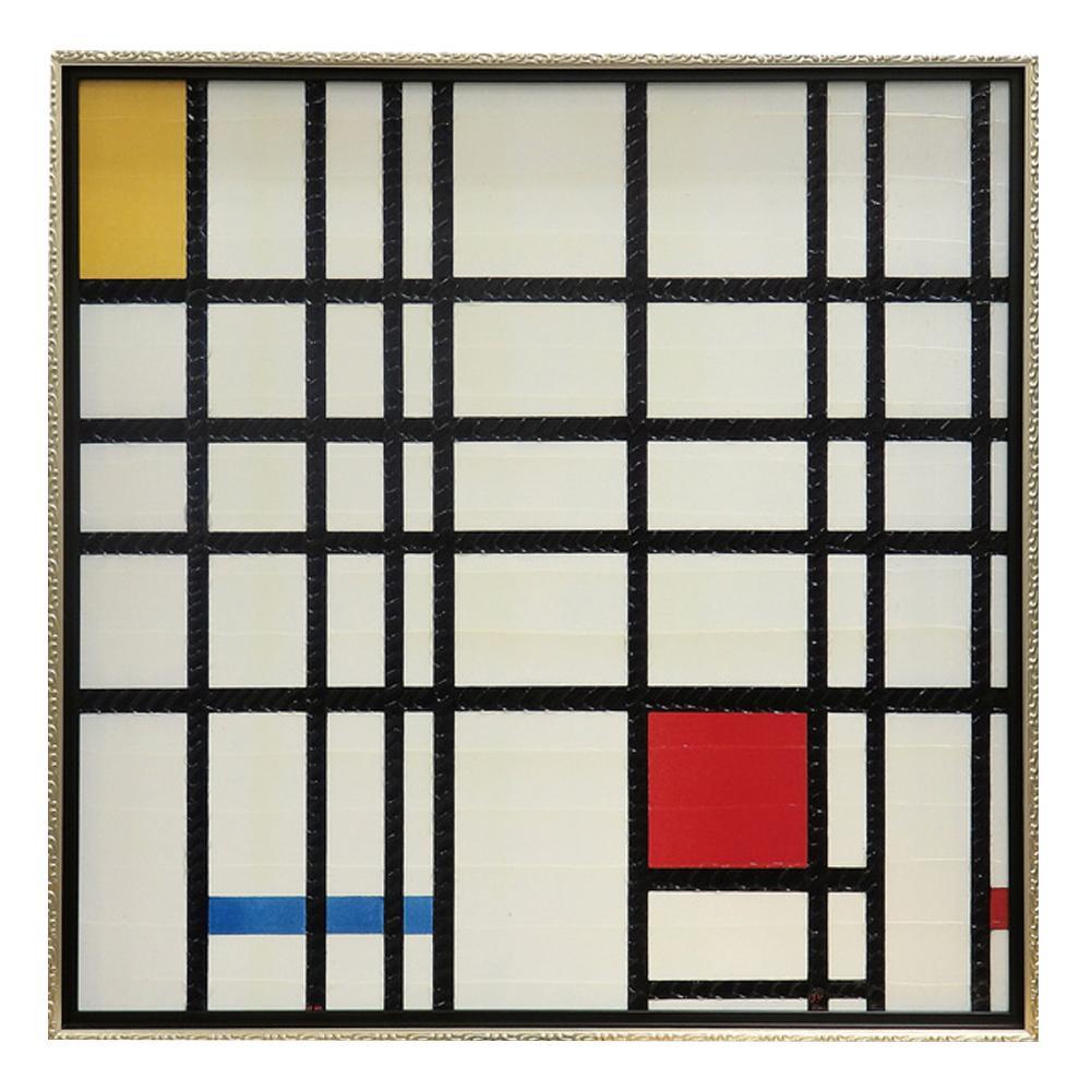 ユーパワー ピエト モンドリアン「コンポジション イエロー、ブルー&レッド」 PM-20021壁掛け 芸術 アート