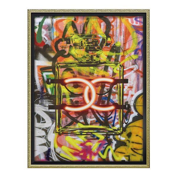 ユーパワー オマージュ キャンバスアート 「グラフィティ パフューム1(Mサイズ)」 BC-12035