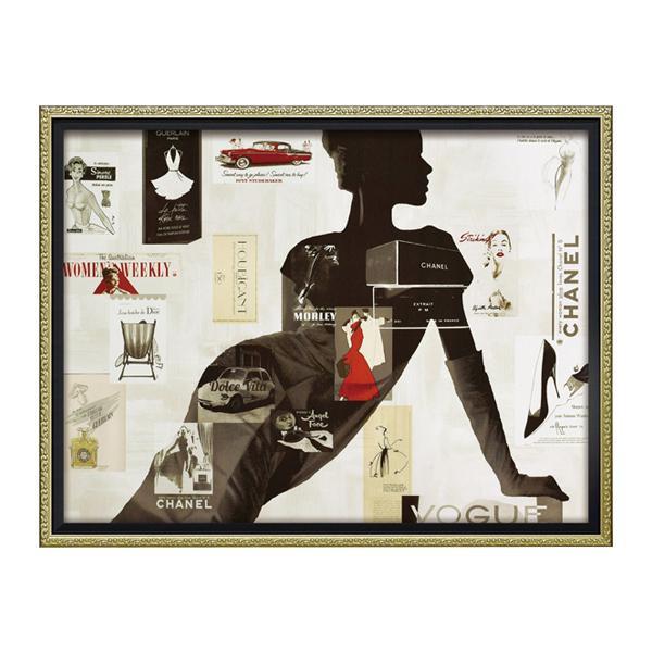 ユーパワー オマージュ キャンバスアート 「ハイファッション1(Mサイズ)」 BC-12037
