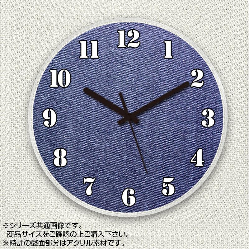 MYCLO(マイクロ) 壁掛け時計 アクリル素材(クリア) 丸型 30cm デニム com370【送料無料】