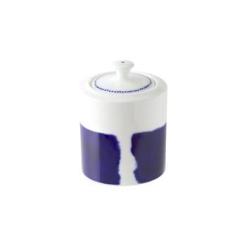 青色のラインが個性的なデザインのシュガーポット NIKKO ニッコー シュガー BLUE RING ブルーリング 11662-6175