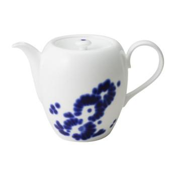 青色のデザインが目を引くコーヒーポット NIKKO ニッコー SEAL限定商品 コーヒーポット M 即日出荷 11663-6215 FLOWER 1020cc DOTS