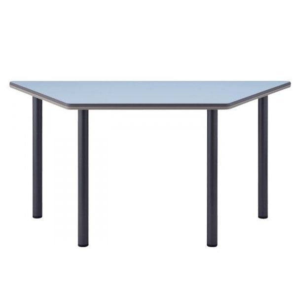 4本脚テーブル  台形 TCB-1500 150×65×70cm チャコールグレー脚【送料無料】