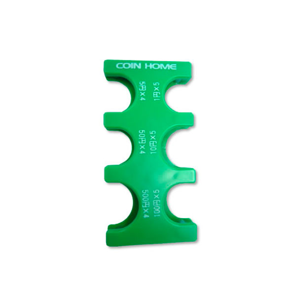 片手で容易に扱えるコインホルダー 携帯コインホルダー コインホーム MG-02 プレゼント 専門店 子ども 小銭 グリーン男性