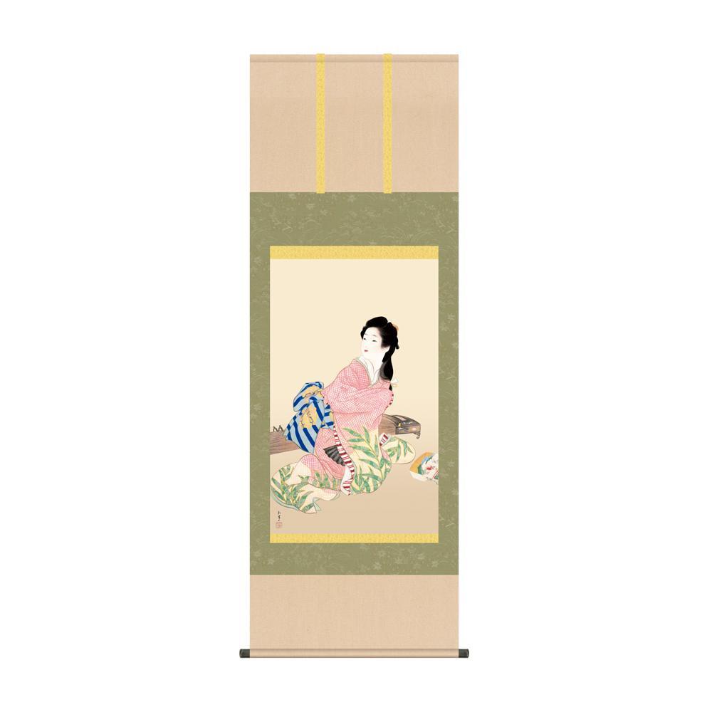 掛軸 上村松園「娘深雪」 KZ2G9-022 54.5×153cm