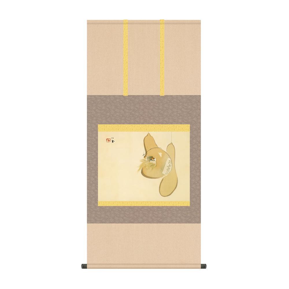 掛軸 竹内栖鳳「すずめのお宿」 KZ2G9-043 54.5×115cm