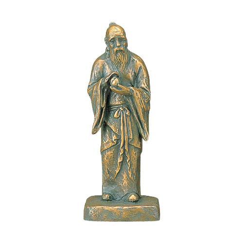 高岡銅器 銅製置物 北村西望作 不老長寿 小 25-03