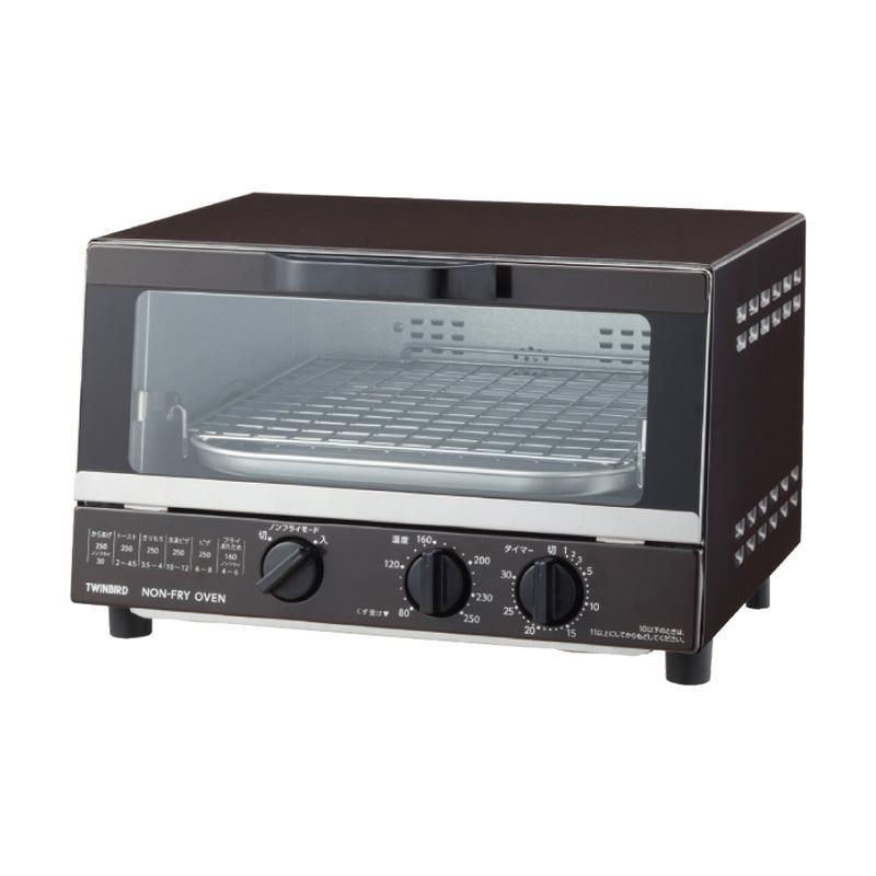 ツインバード ノンフライオーブン TS-4054BR 6204-045ノンフライ 温度調節 4枚