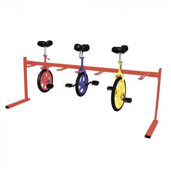 運動施設や教育施設で活躍 組立式 一輪車整理台77 激安セール 高級 A-245