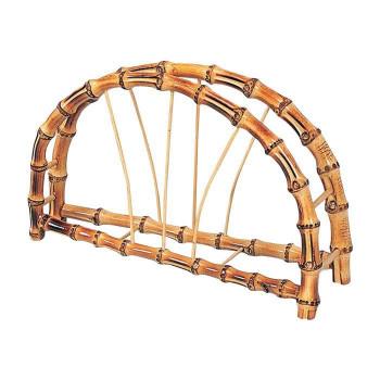 上等 竹製のうちわたて うちわ立 根竹半月型 9078 驚きの値段