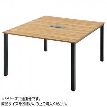 オフィス家具 アイアンフレーム ミーティングテーブル 140×140×70cm RG4-1414-KKA