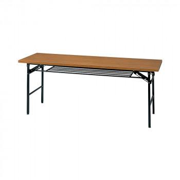 オフィス家具 ミーティングテーブル ハイタイプ 180×60×70cm チーク KM1860T-T