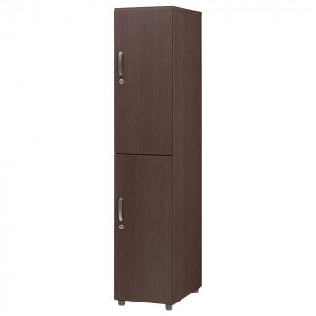 オフィス・施設向け家具 フリージョイントロッカー2段(単体) ミディアムウォールナット FLW-MW