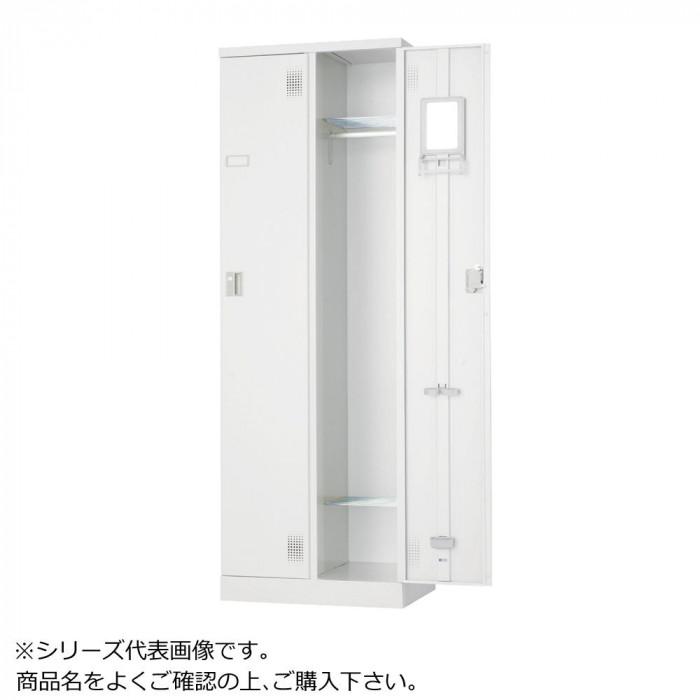 豊國工業 外付扉型ロッカー2人用(南京錠) ULK-A2 CN-85色(ホワイトグレー)