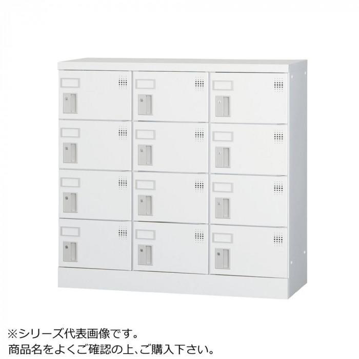 豊國工業 多人数用ロッカーロータイプ(3列4段)ダイヤル錠窓付き GLK-D12W CN-85色(ホワイトグレー)