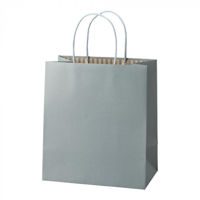 パックタケヤマ 手提袋 ST カラーズ アッシュブルー 10枚×10包 XZT68305紙袋