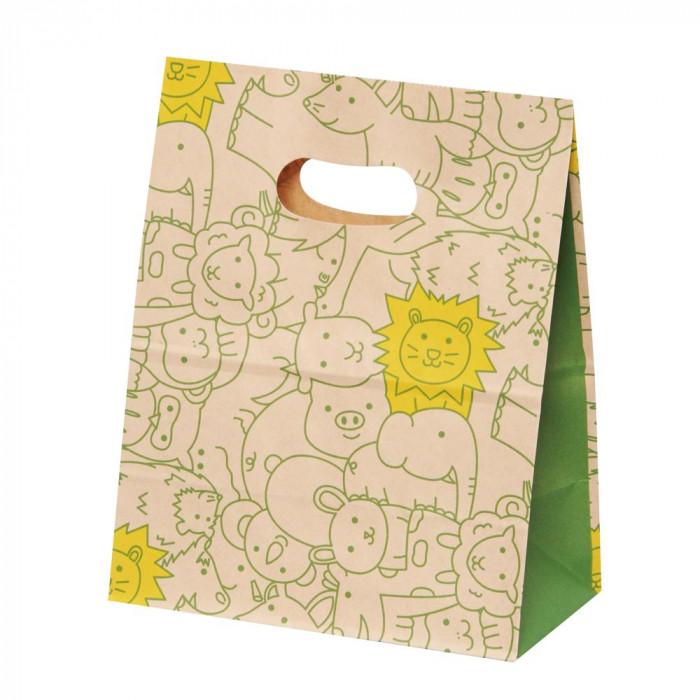 パックタケヤマ 紙袋 イーグリップ M パズール 50枚×10包 XZT52017