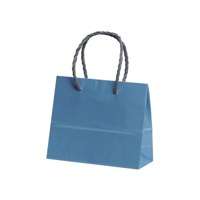 パックタケヤマ 手提袋 ミニ ブルー 20枚×10包 XZT00580紙袋