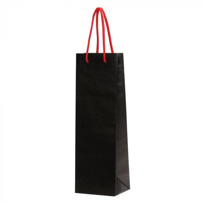 パックタケヤマ 手提袋 HTワインバッグ ブラック 10枚×10束 XZV65501紙袋
