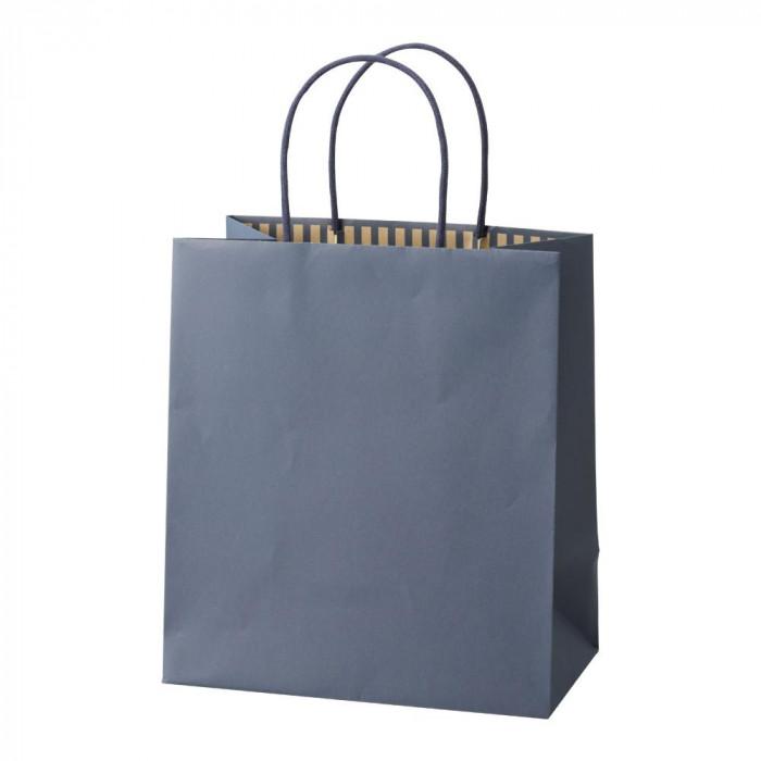 パックタケヤマ 手提袋 ST カラーズ ディープブルー 10枚×10包 XZT68306紙袋