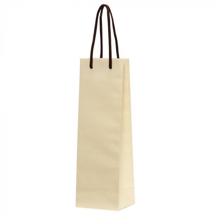 パックタケヤマ 手提袋 HTワインバッグ アイボリー 10枚×10束 XZV65502紙袋
