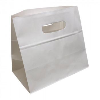 パックタケヤマ 手提袋 エコイーグリップLL-S 白無地 230×135×210 XZT52027紙袋
