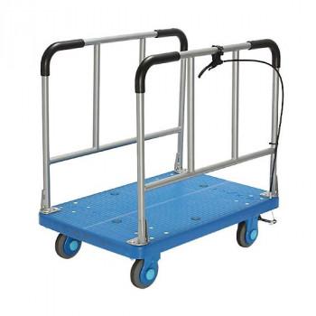 静音台車 長尺物運搬車 ハンドストッパー 最大積載量300kg PLA300-W-HS