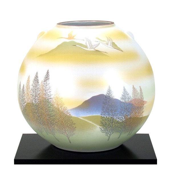 九谷焼 8号花瓶 鶴木立連山 N174-03