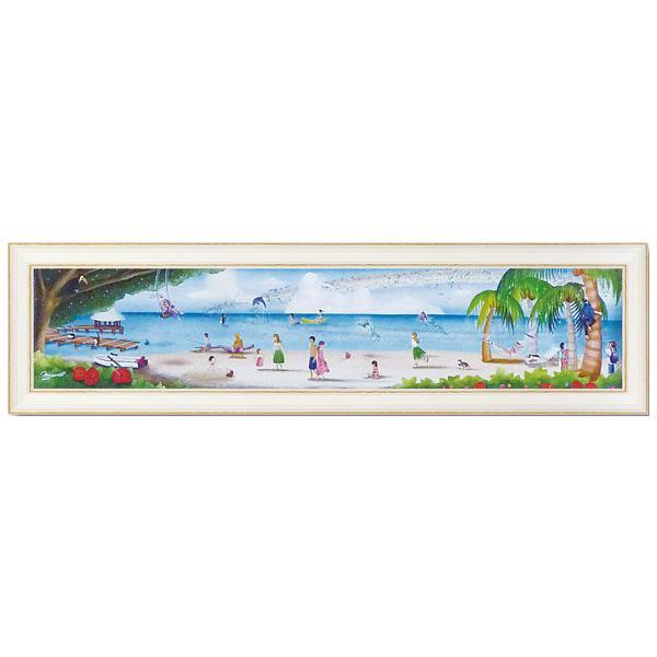 ユーパワー アートフレーム なかの まりの 地上の楽園(Lサイズ) NM-15002美術品 壁掛け 絵
