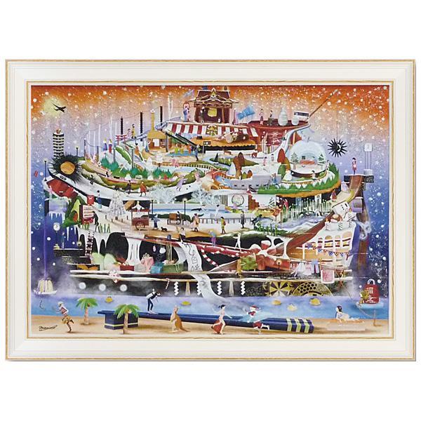 ユーパワー アートフレーム なかの まりの ウニ軍艦 冬休み号 NM-14003壁掛け 絵 ウォール