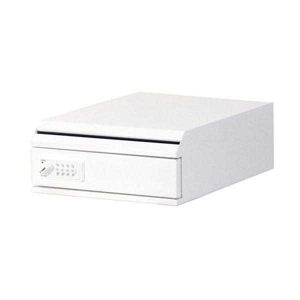 ぶんぶく 機密書類回収ボックス 卓上 ダイヤル錠仕様 ネオホワイト KIM-S-6D【送料無料】