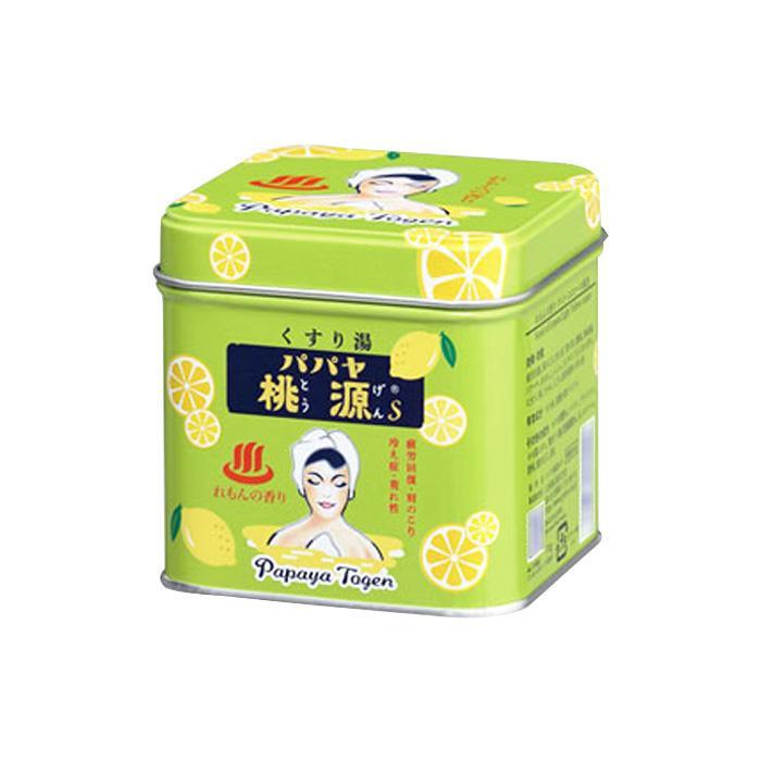 五洲薬品 薬用入浴剤(医薬部外品) パパヤ桃源S れもんの香り 70g缶×40個