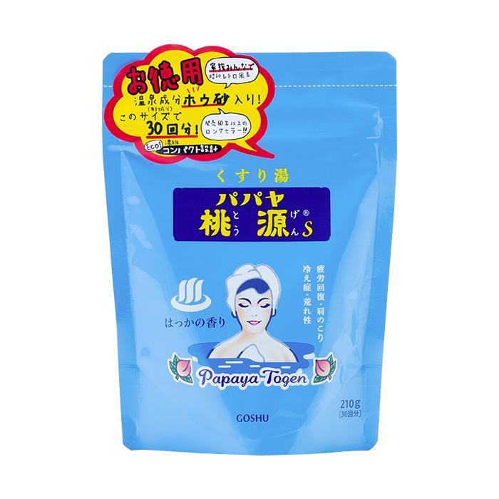 五洲薬品 薬用入浴剤(医薬部外品) パパヤ桃源S はっかの香り (スタンディングパウチ) 210g×24袋