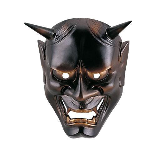 インテリアとして飾れる鉄製面です。 高岡銅器 鉄製面 般若面 黒 166-07【送料無料】
