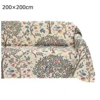 川島織物セルコン Morris Design Studio ケルムスコットツリー マルチカバー 200×200cm HV1722 BE ベージュ【送料無料】