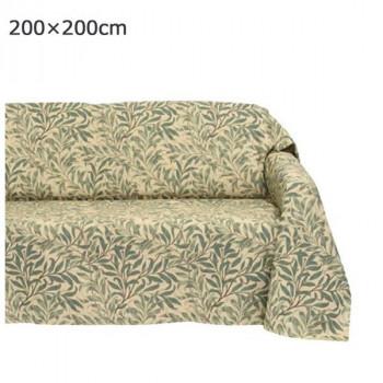 川島織物セルコン Morris Design Studio ウィローボウ マルチカバー 200×200cm HV1716 G グリーン【送料無料】