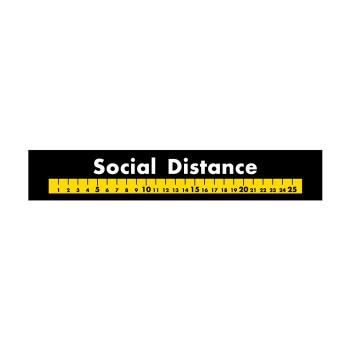 横長型フロアシール フロアシール 祝開店大放出セール開催中 44142 黒地 Distance Social 激安通販ショッピング