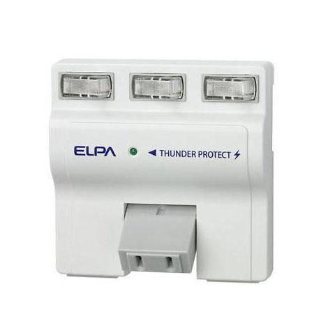 手軽に雷対策 雷や開閉サージを低減し接続された機器を守る 激安 激安特価 送料無料 ELPA 耐雷サージ機能付スイングタップ W 秀逸 個別スイッチ 3個口 A-S500B